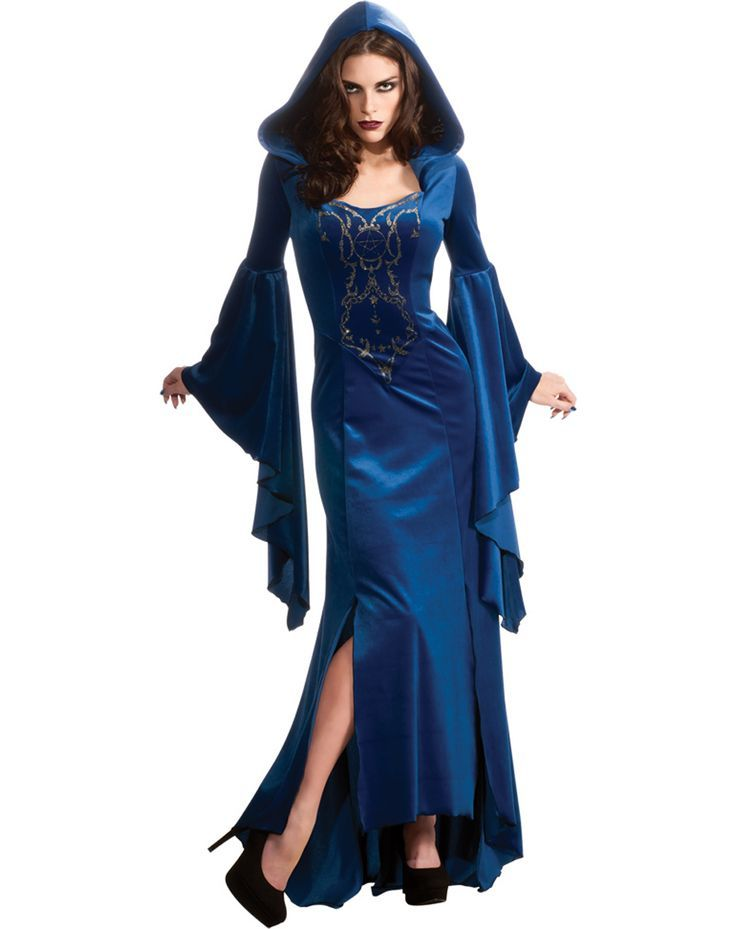 female wizard costumes awesome blue lady wizard robe 44 99