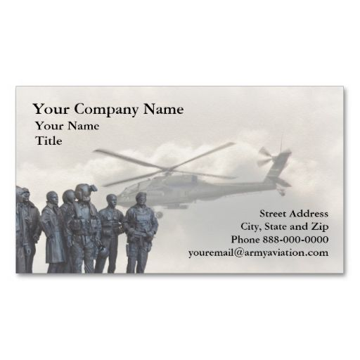 Army aviation business card business cards aviation and army army aviation business card i love this design it is available for customization or ready to buy as is all you need is to add your business info to this colourmoves