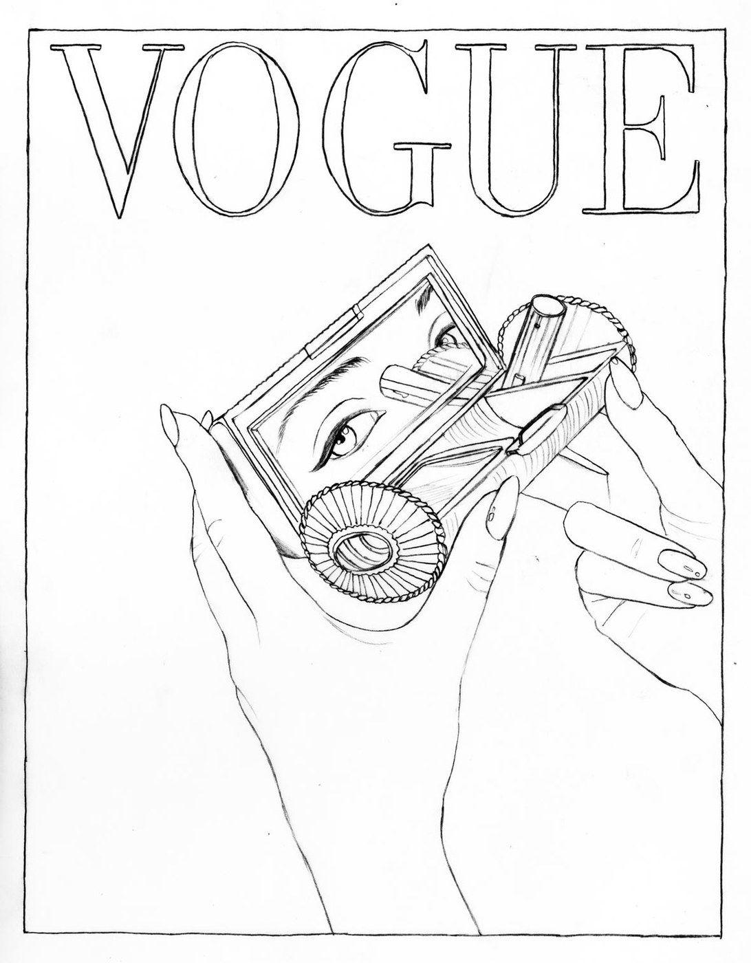 Color Your Favorite Vogue Paris Covers Fashion Coloring Book Coloring Books Coloring Book Pages