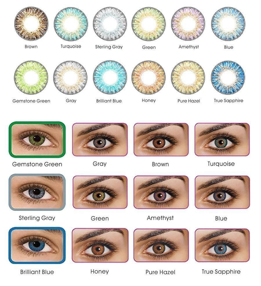 2d0ab9f56a COLOR CONTACTS 12 COLORS TO CHOOSE FROM. FREE SAME DAY FAST SHIPPING