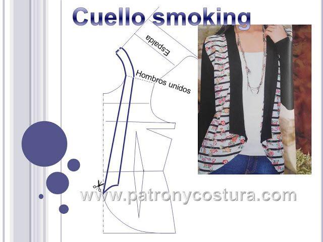 cuello smoking | Costura | Pinterest