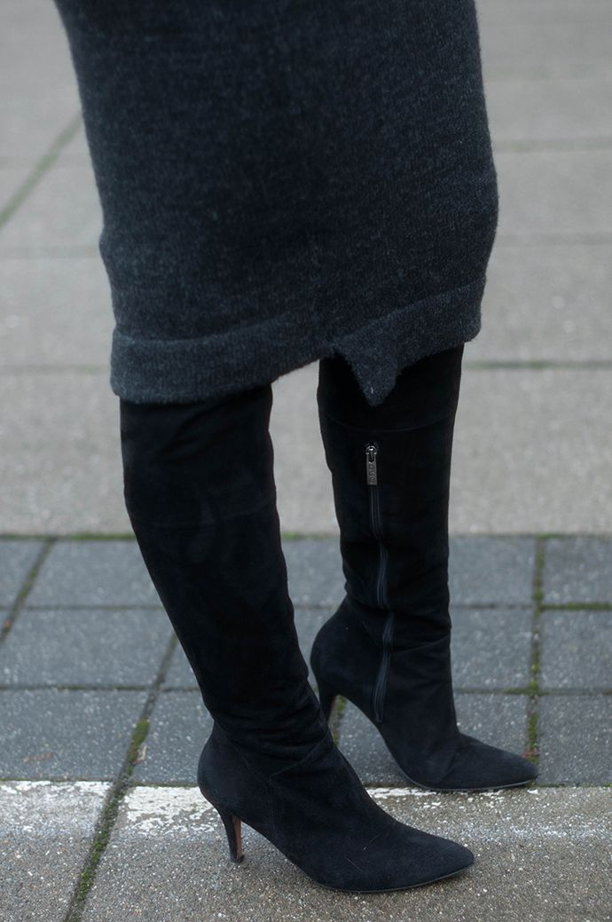 RED REIDING HOOD: Fashion blogger wearing over the knee boots duo ...