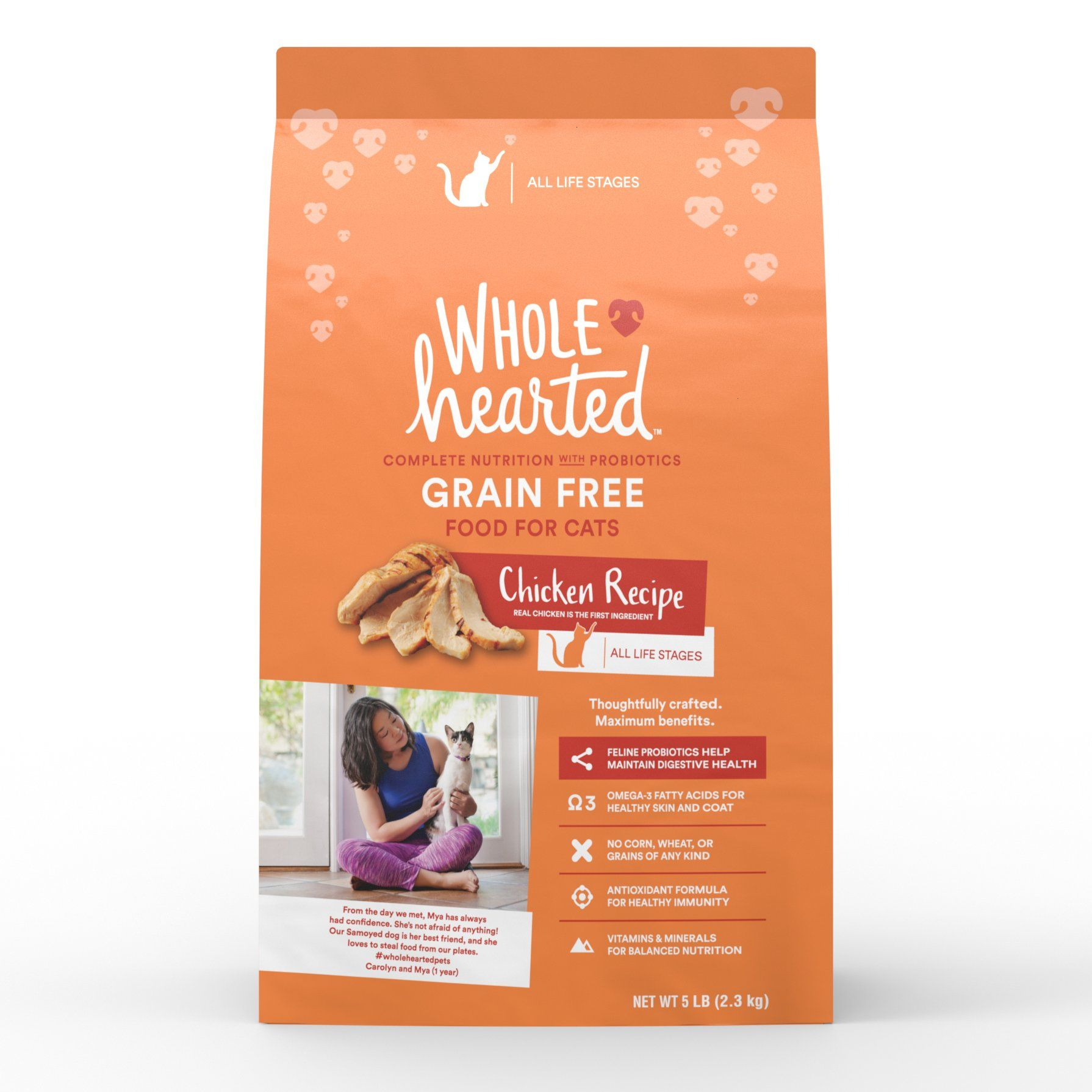 Wholehearted Grain Free Chicken Formula Dry Cat Food 5 Lbs Dry Cat Food Kitten Food Chicken Recipes Dry