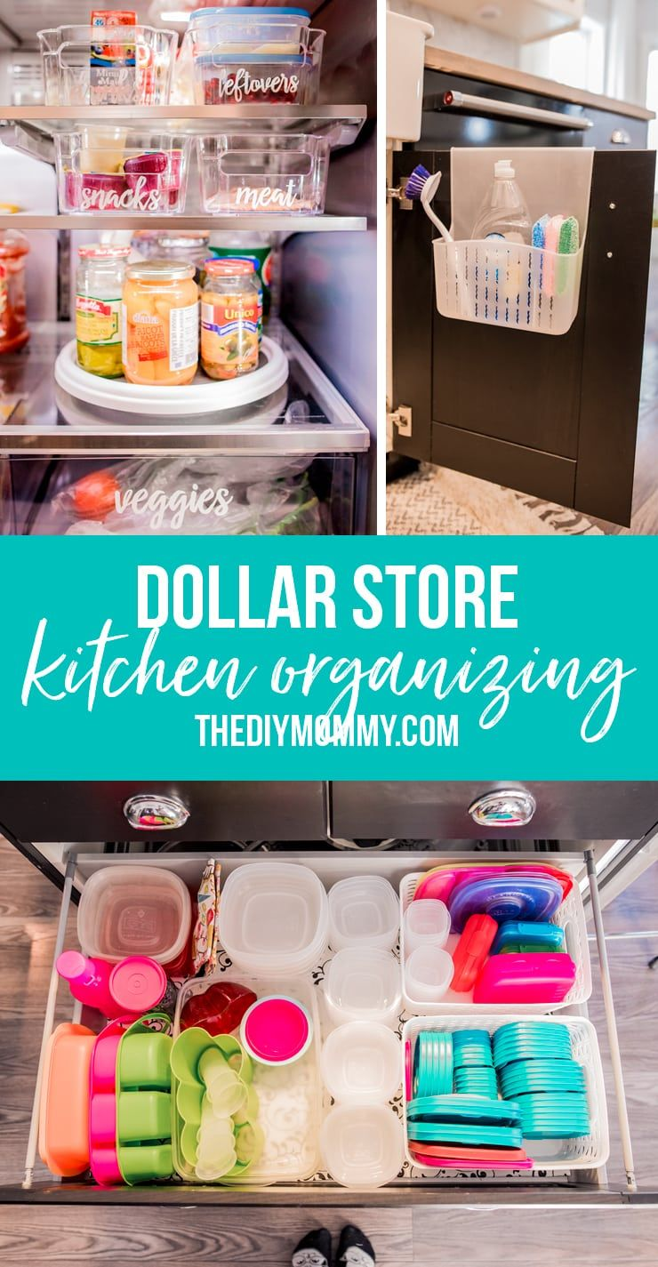 Organize Your Kitchen With These 6 Dollar Store Items The Diy Mommy Dorm Room Organization Diy Dollar Stores Dollar Store Diy