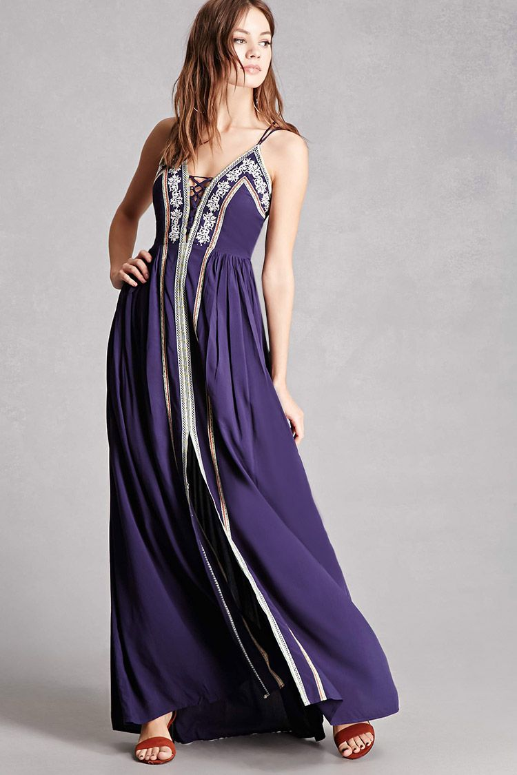 Soieblu Embroidered Maxi Dress | Robes | Pinterest