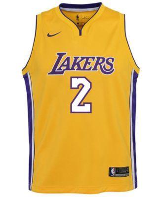 ffb2aefafd798b Nike Lonzo Ball Los Angeles Lakers Icon Swingman Jersey