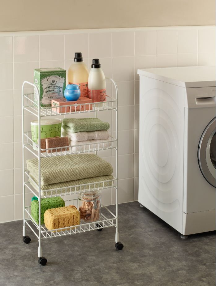 Add Storage To Your Laundry Room, No Installation Required! The ClosetMaid  4 Tier