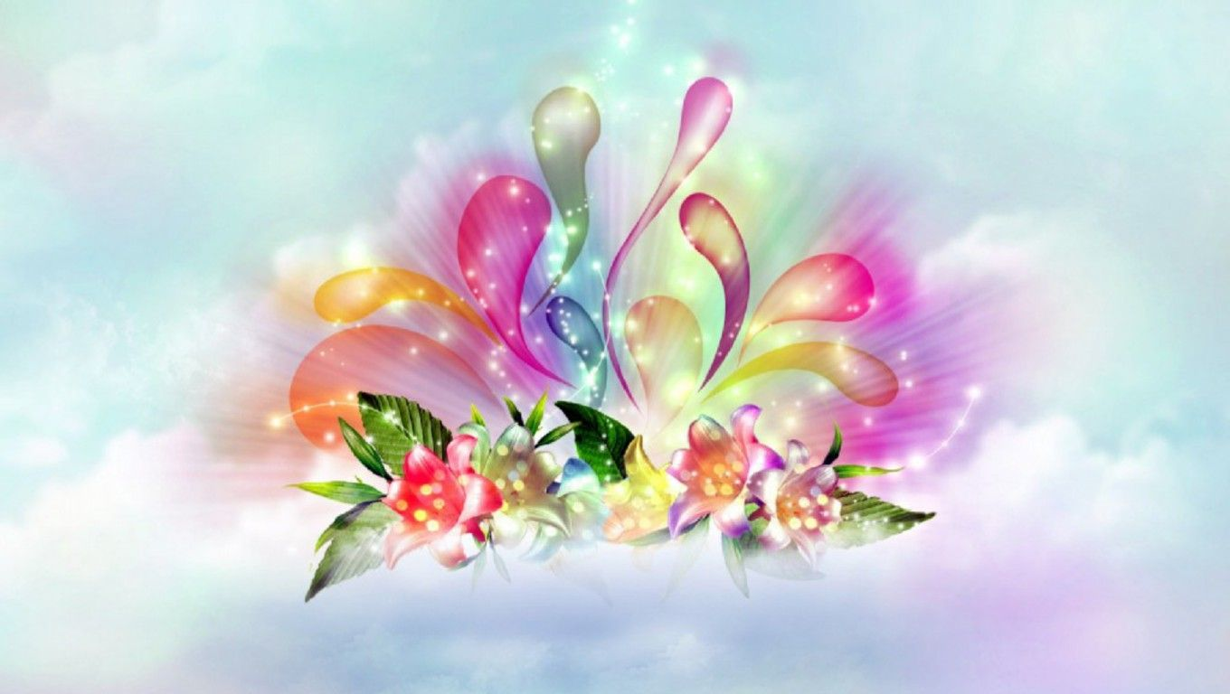 Flower Wallpaper Abstract Flower Wallpaper Flowers Pinterest