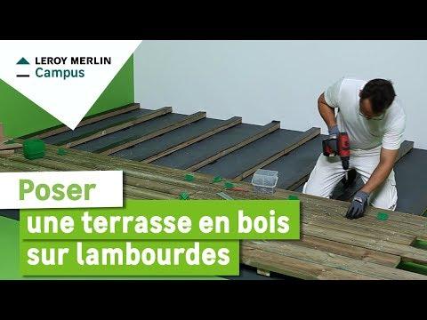 3 Comment Poser Une Terrasse En Bois Sur Lambourdes Leroy Merlin Youtube En 2020 Terrasse Bois Lame De Bois Terrasse