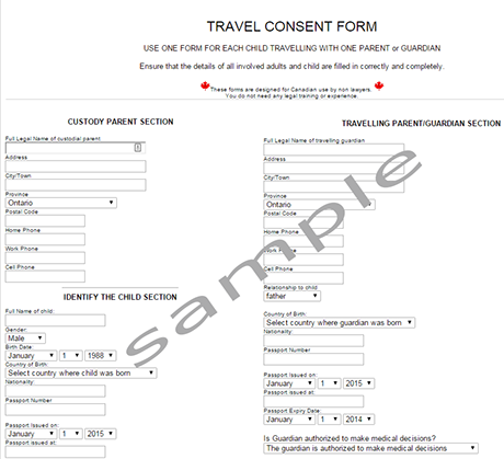 Letter Parental Consent For Minor Travel Template Child Form Word