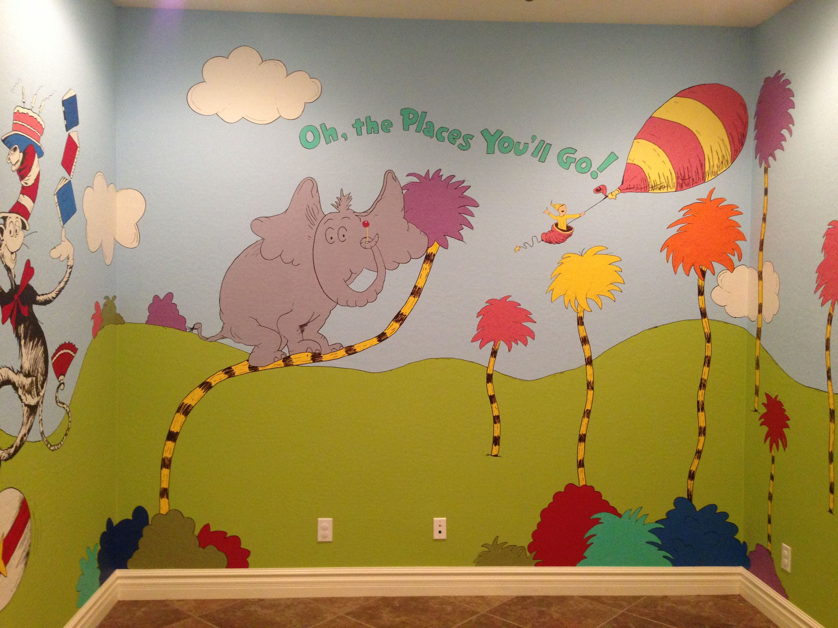 Kid murals by dana railey school mural pinterest for Children s mural
