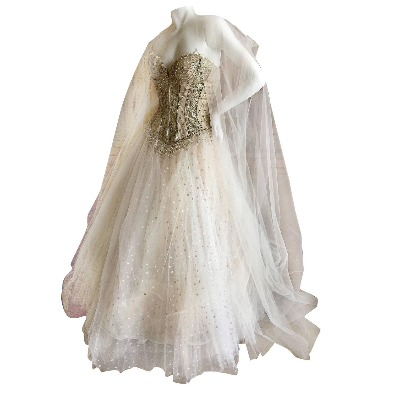 Bob mackie one of a kind ballerina wedding dress bob for White corset under wedding dress