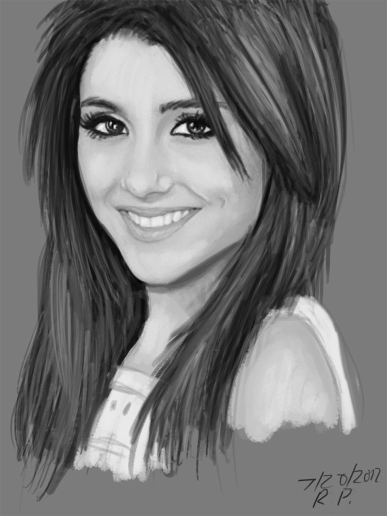 Ariana pencil drawing
