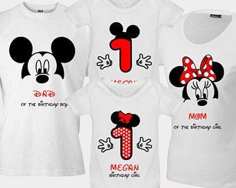 3b8f09aee42d Disney Birthday Shirts For Family Birthday Disney Shirts Bday Mickey Shirts  Minnie Women Men Adult Girls T shirt Top Tshirt Outfit Onesie