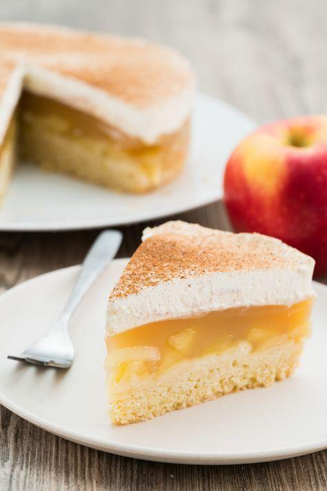 Apfel Sahne Torte Mit Pudding Rezept Kuchen Rezepte Kuchen Und Torten Und Kuchen Und Torten Rezepte