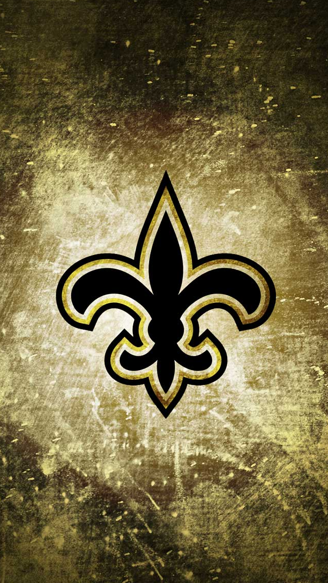 New Orleans Saints Rusty Look iPhone 5 Wallpapers New