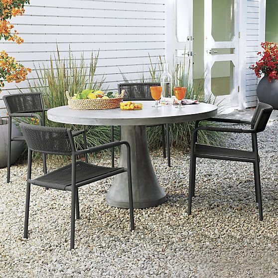 Morocco Concrete Dining Table Crate And Barrel Round Pedestal