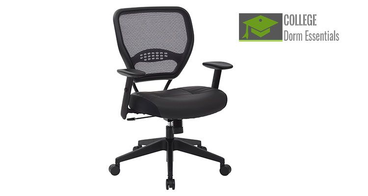 Adjustable leather office chair with tilt control http