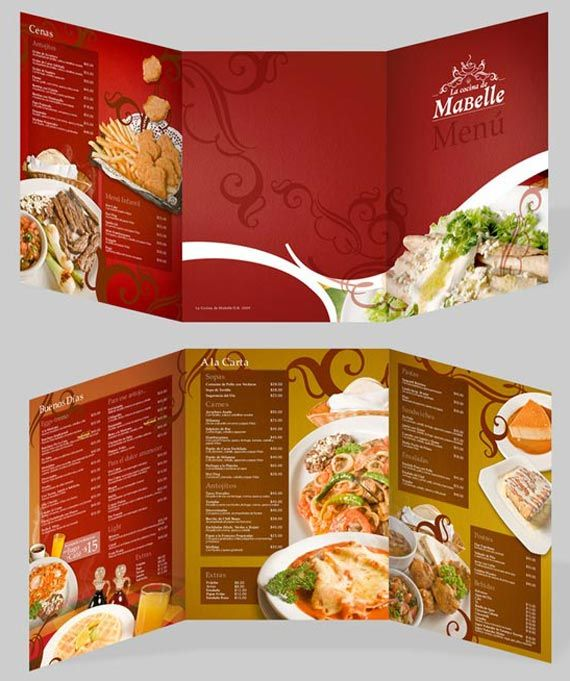 30 Elegant Cafe and Restaurant Menu Designs \u2013 Part 3 Multy Shades