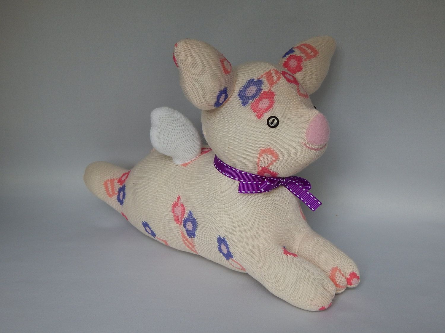 Flying Piggy Plush Toy, Pig Stuffed Animal, Sock Monkey, Pig Stuffed ...