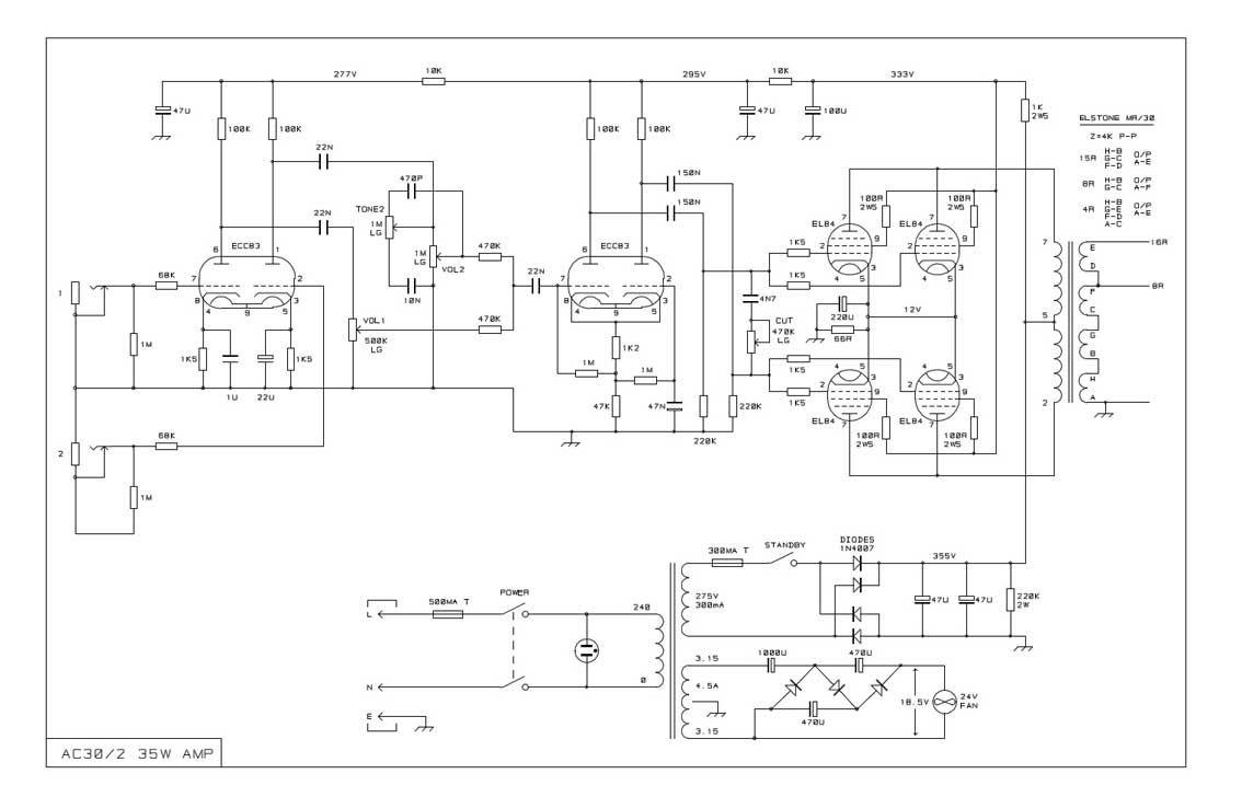 Diy Vox Ac30 Clone Schematics Train Locomotive Toys Boss Dd2 Digital Delay Guitar Pedal Schematic Diagram