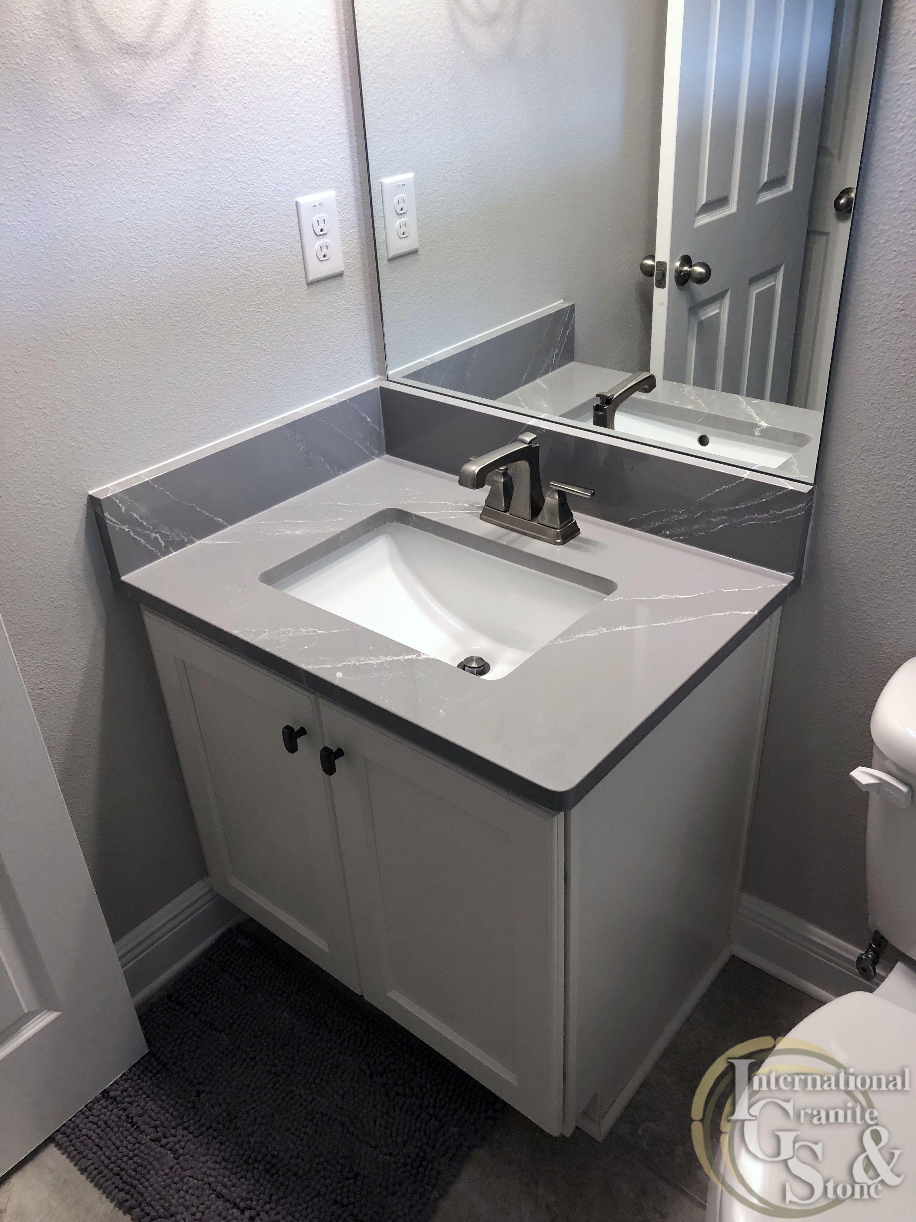 A Recent Cambria Queen Anne Quartz Bathroom Vanity Installation In