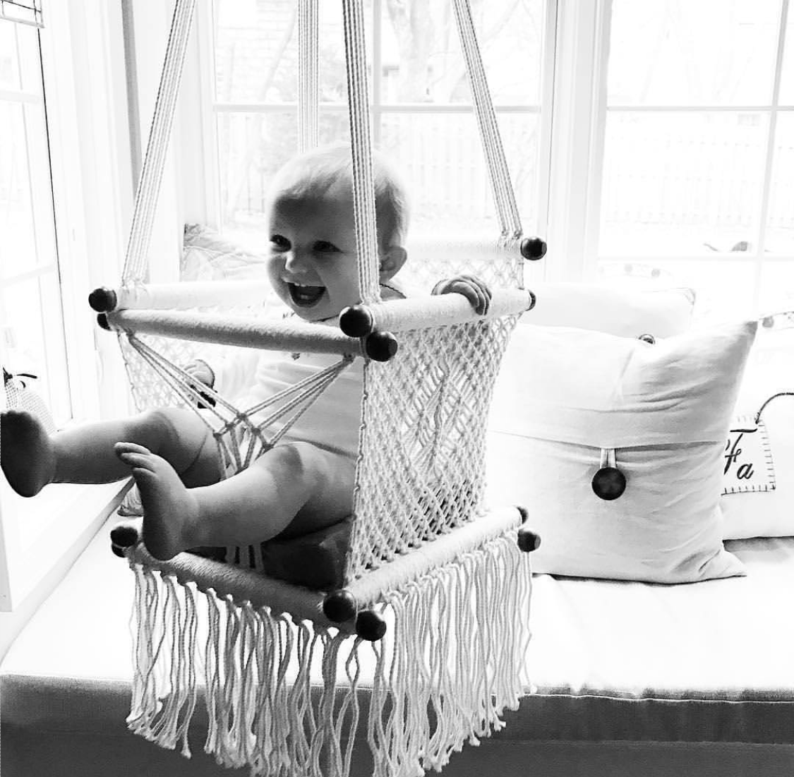 Beautiful handmade macrame baby swings and hammocks baby swing