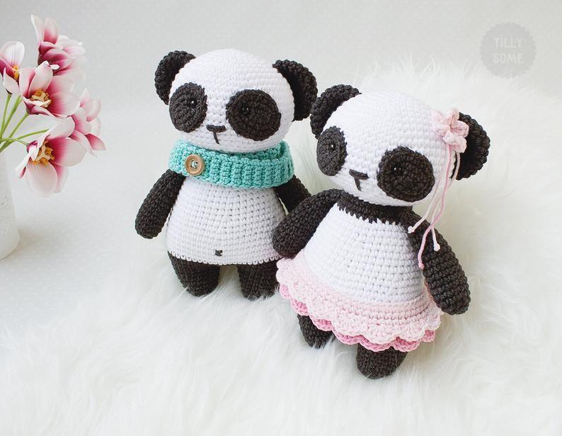 Amigurumi Panda Bozuk Para Cüzdanı Yapımı - Örgü Modelleri | 616x794