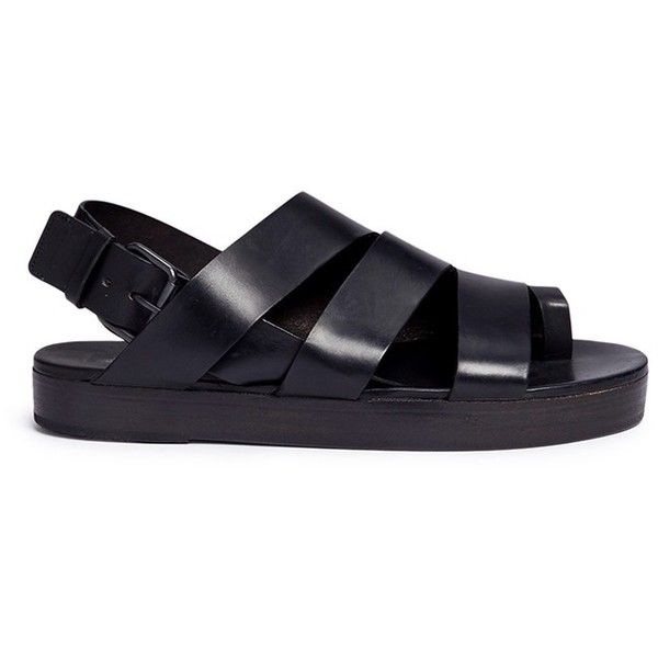 ce1c8e124f317b Marsèll  Gradone  strappy leather flatform sandals ( 534) ❤ liked on  Polyvore featuring shoes