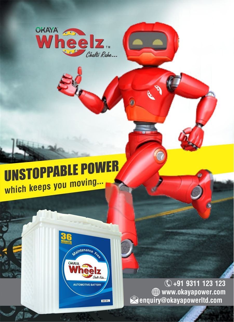 Okaya Wheelz the Unstoppable Power which keeps you & your