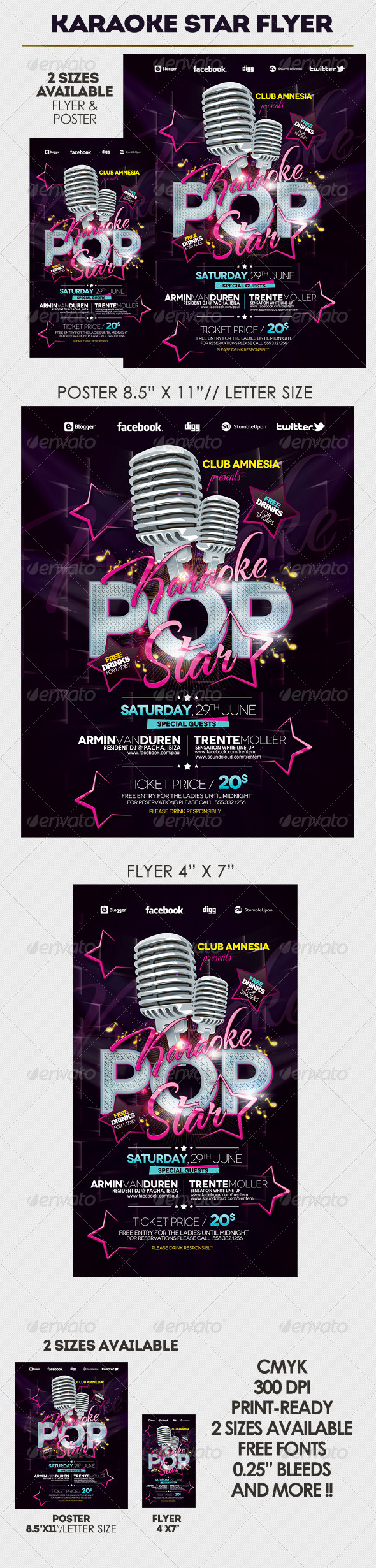 karaoke night flyer template party events home and flyer template karaoke party