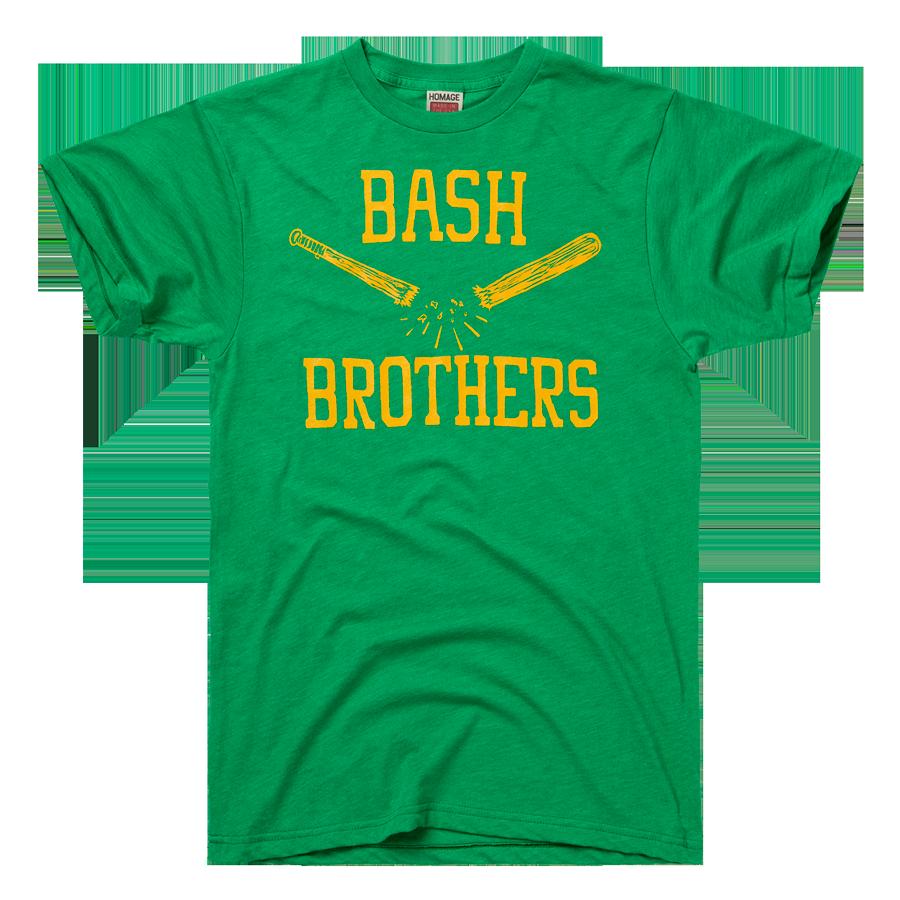 HOMAGE Oakland A's Bash Brothers Baseball T-Shirt
