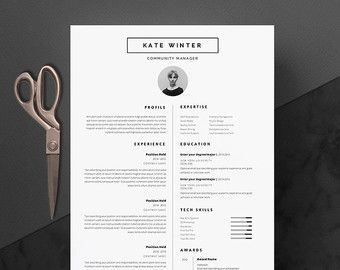 Modern Resume Template Modern Resume Template & Cover Letter  Icon Set For Microsoft