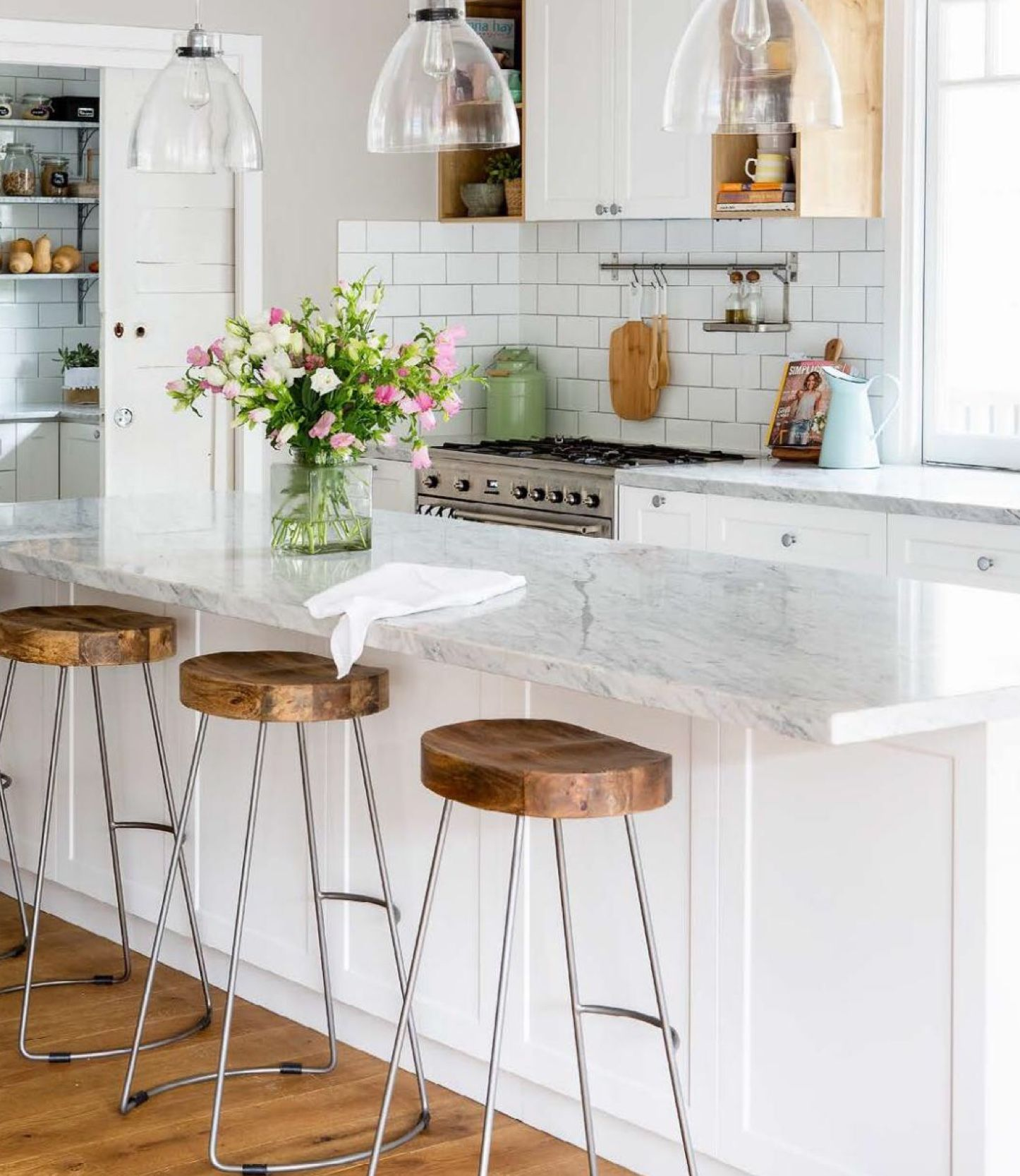 Stools for kitchen island by Heather on kitchen White