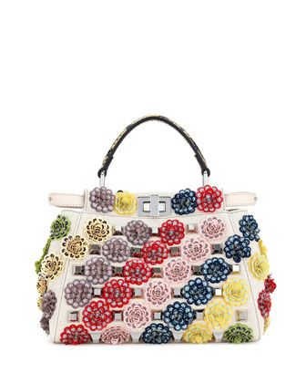 8dc76658ac Peekaboo+Mini+Floral+Canvas+Satchel+Bag