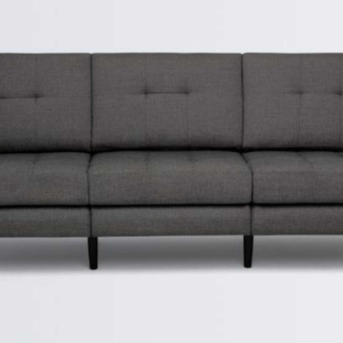 Terrific The Burrow Sofa Charcoal 3 Seats Low Arm Walnut Legs Machost Co Dining Chair Design Ideas Machostcouk