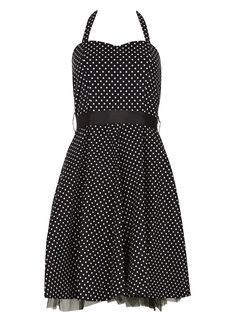 **Izabel London Multi Black Polka Dot Dress