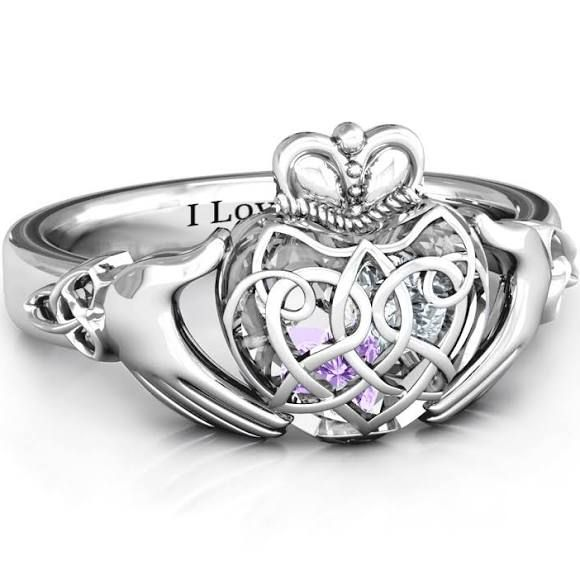 Caged Hearts Celtic Claddagh Ring Celtic In 2018 Pinterest