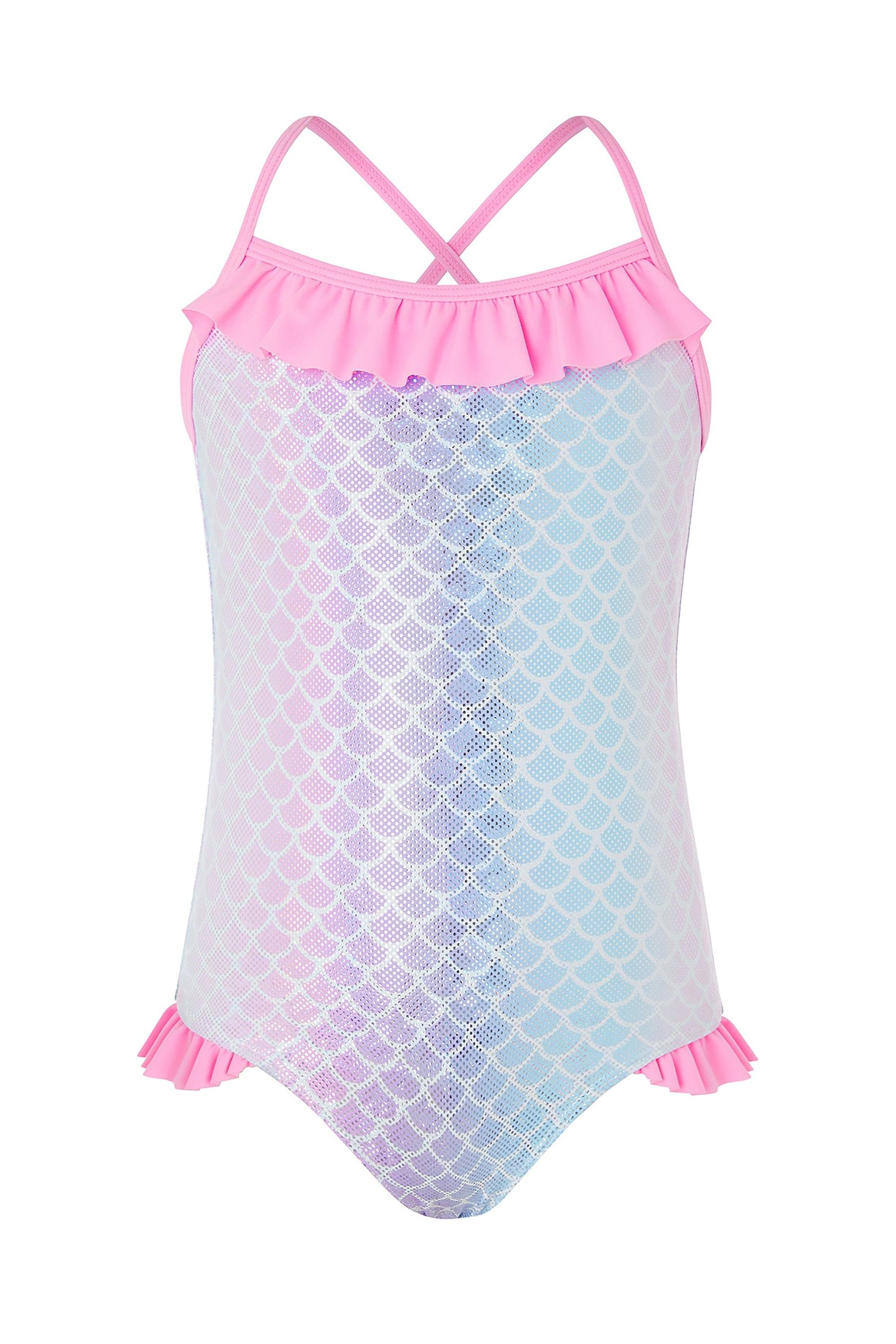 1feb0b695d6 Girls Angels by Accessorize Metalic Ombre Mermaid Swimsuit ...