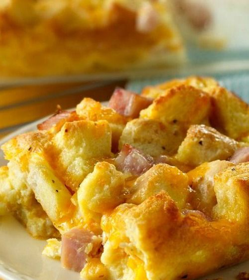 Ham And Egg Bubble Up: Ham And Biscuit Casserole