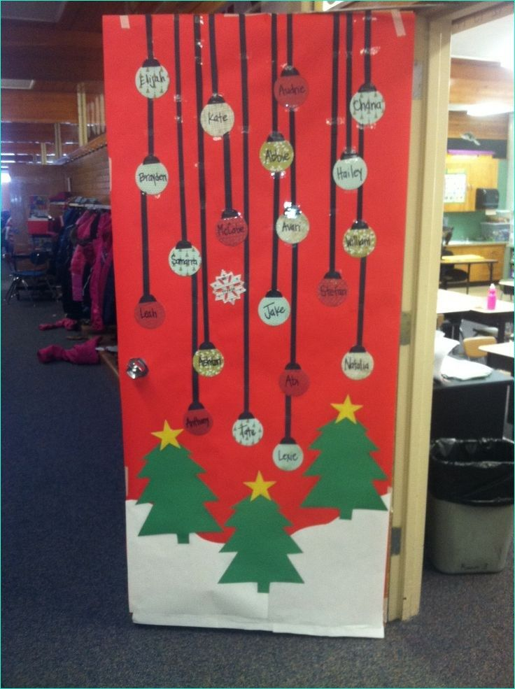 Christmas Door Decorating Ideas For School Christmas Classroom