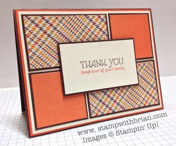 Lots of Thanks – a Sweater Weather Maculine Card