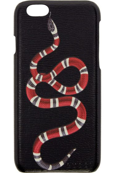 ccd33cd693f Gucci - Black Snake iPhone 6 Case