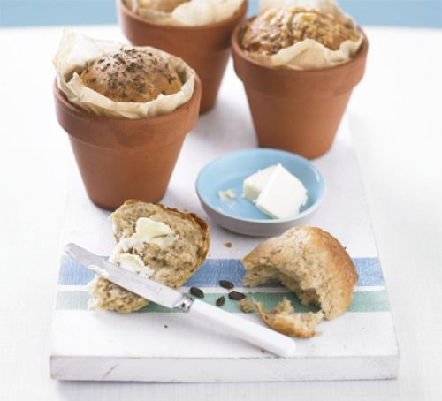 Flowerpot bread | Recipe | Bbc good food recipes, Food, Baking