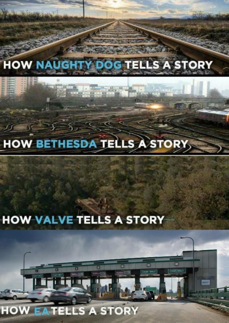 Accurate depiction of storytelling. Video games funny