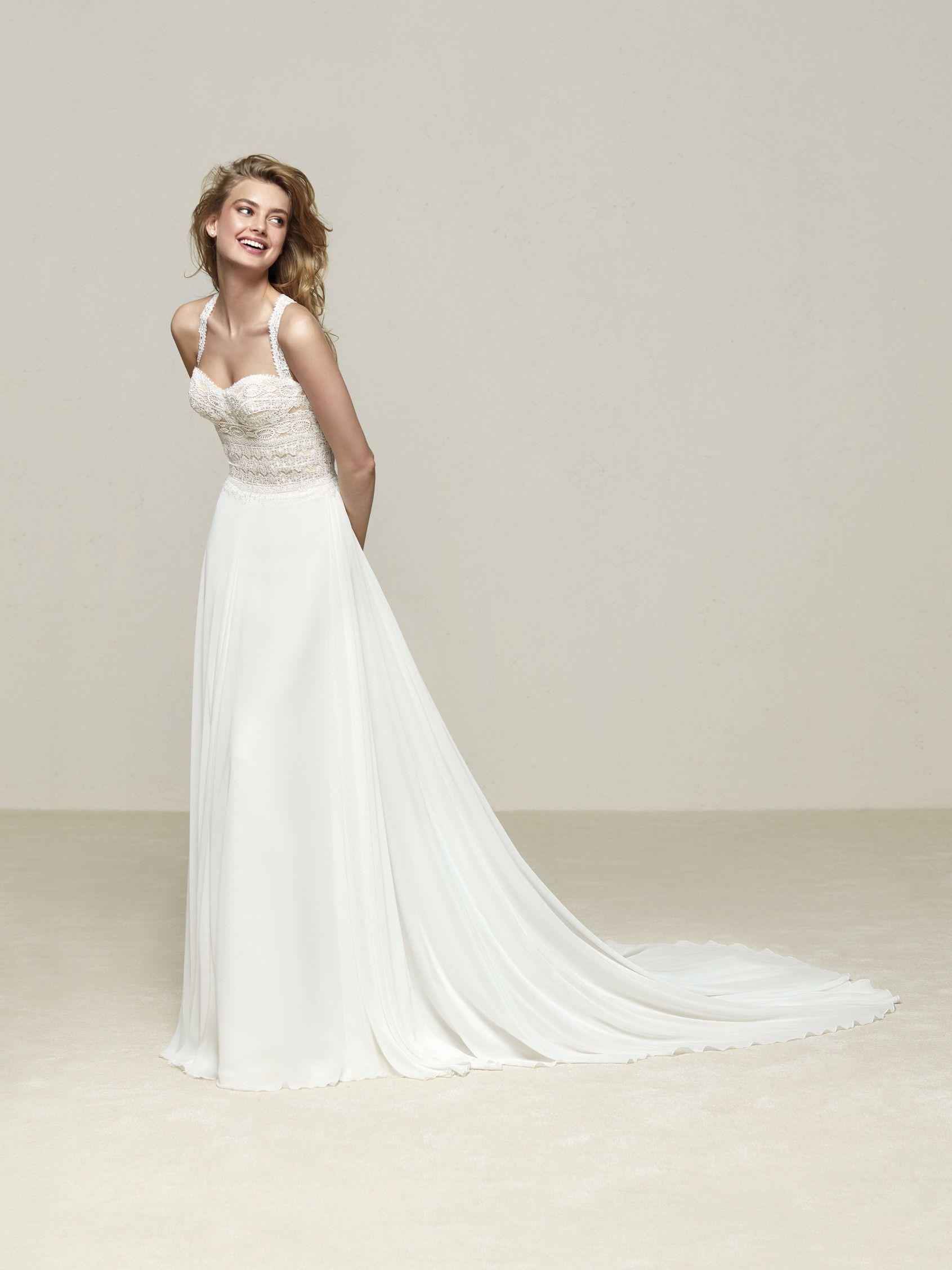 Drenube: Wunderschönes Brautkleid mit bezauberndem Rücken als ...