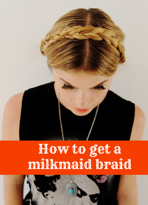 Simple steps on how to score this milkmaid braid look!