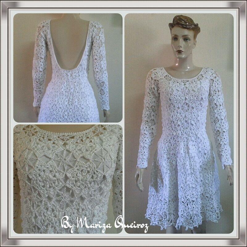 54df0caa7 Vestido Crochet VENDIDO