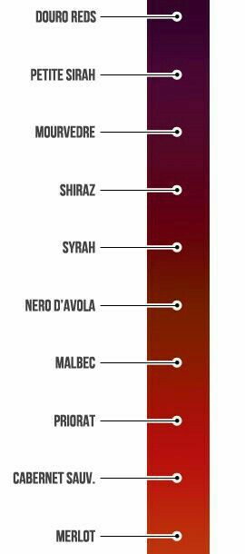 color chart for comparison of red wines also ganoderma in black coffee drinks pinterest colour rh