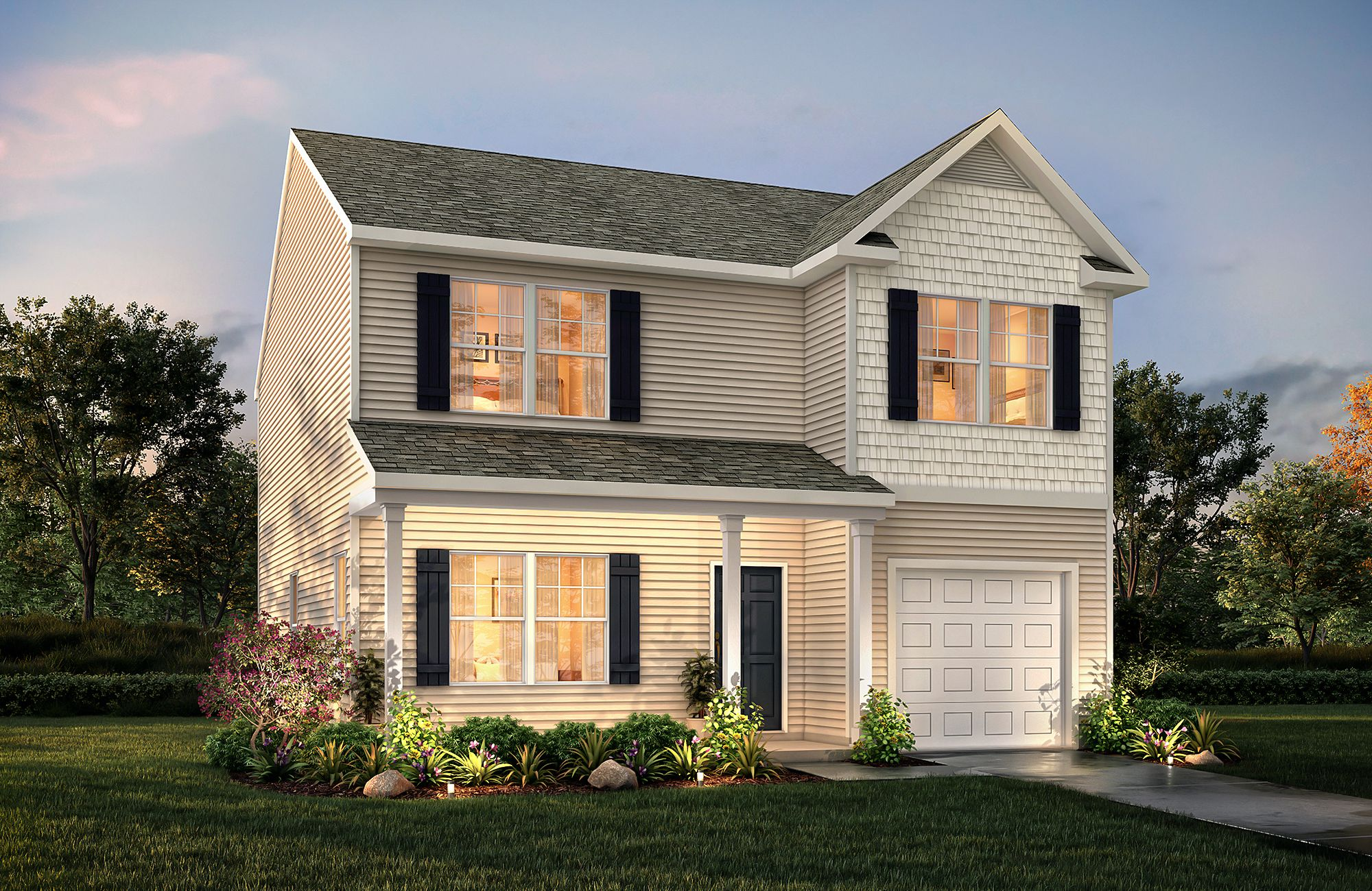 Hudson E B2 One Car Garage True Homes Home Structure House Styles